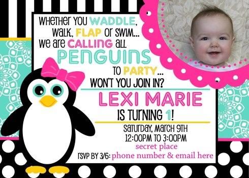 Invitation-5x7-Penguin-LexiMarie1 2